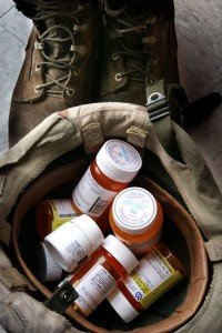 """05 Feb 09 (kpchar3) by Karen Pulfer Focht: Charley Williams takes nine prescription medicines to help manage his headaches, anxiety, sleeplessness and chronic pain. Charley like many Iraqi veterans, also suffers from post traumatic stress syndrome. He says as long as he has his """"meds"""" he is okay. (7-11-08)"""